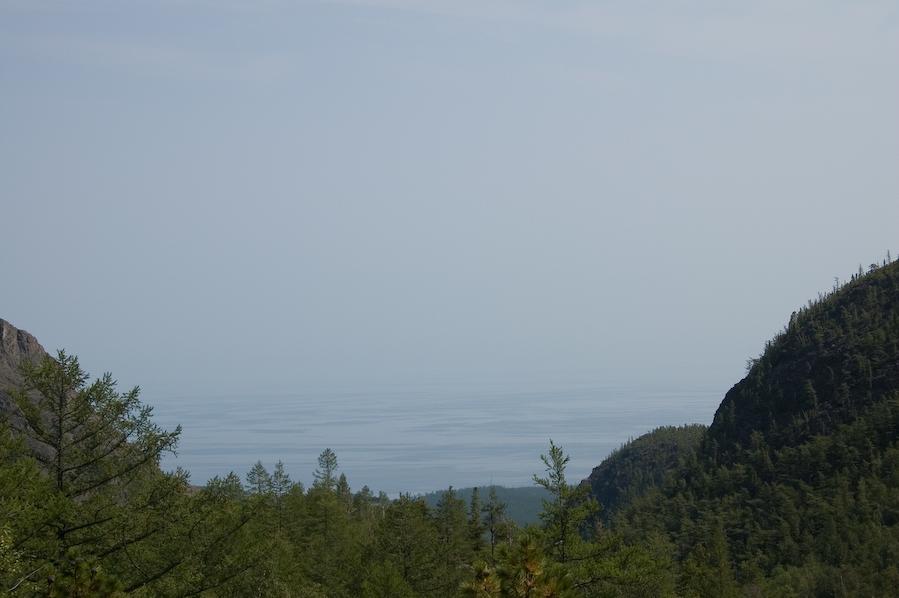 вид на Байкал с перевала Солнцепадь